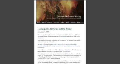 Homeopathicelements Weblog